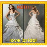 Buy cheap A-line Sweetheart Beaded Appliqued Taffeta Buy Wedding Dresses Cheap Online from wholesalers