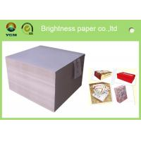 Buy cheap smooth surface duplex board grey back 350g 700*1000mm for printing and packaging from wholesalers