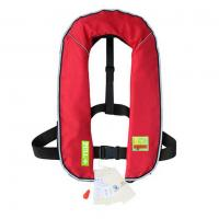 China Water safety products automatic inflatable life jacket 150n / 275n with gas cylinder 17g / 33g on sale