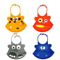 Wholesale Baby products Self-marketing silicone saliva silicone rice round silicone waterproof bib from china suppliers