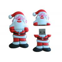 Buy cheap 8GB USB Flash Disk Custom Red Santa Claus Cartoon For Christmas Gift from wholesalers