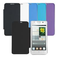 Buy cheap Customized Slim Thin Blue Wallet Smart Phone Huawei Ascend g510 Flip Case from wholesalers