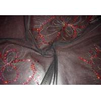 Buy cheap Mesh Spangle Embroidery Fabric (Z08009) from wholesalers