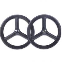 Buy cheap Custom Made 700c Carbon Track Bike Wheels Front Rear New Basalt Surface Clincher 23 Width from wholesalers