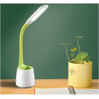 Buy cheap 5W study led desk lamp , kids dimmable led table lamp with pen holder, desk reading light for students from wholesalers