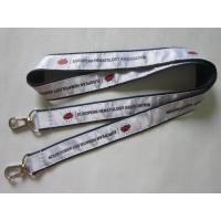 Buy cheap High Quality Personalized Satin Ribbon Overlaid Double Ends Lanyard Direct Factory from wholesalers