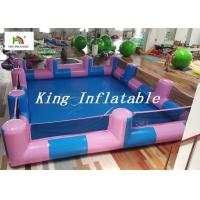 Buy cheap Custom 0.9mm PVC Pool Type Inflatable Swimming Pool With Blue And Pink , 12x8m from wholesalers