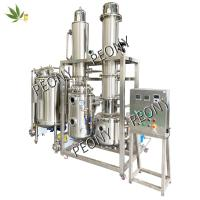 China Stainless steel fractional Molecular Distillation hemp extraction Equipment for CBD oil from cannabis on sale