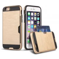 Buy cheap Customized Drop proof iPhone Protective Case with metal Armour card slot function from wholesalers