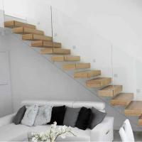 Buy cheap Prefab open riser oak wood floating staircase/hidden cantilever stairs timber staircase from wholesalers