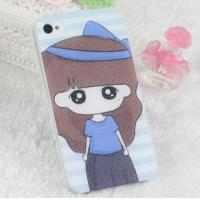 Buy cheap Korea Cute Girl Painted Skin Colorful Hard Plastic Case Cell Phone Covers from wholesalers