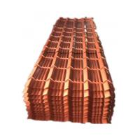Buy cheap Red Glazed Colored Corrugated Metal Panels ISO Compliant from wholesalers