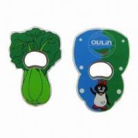Wholesale Bottle Opener with Soft PVC Cover Material, Customized Logos and Shapes Welcome from china suppliers