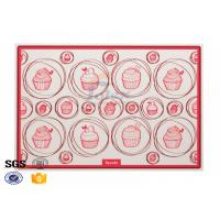Buy cheap Custom Printing Pizza Non Stick Silicone Baking Mat Safety , Silicone Cookie Sheet from wholesalers