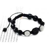 Buy cheap Beaded fashion jewelry 3 crystal bead and 8 resin bead shamballa bead bracelet NP10033 from wholesalers