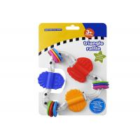 China Food Grade Plastic Rattle Toys For Infants , Baby Teethers And Soothers on sale