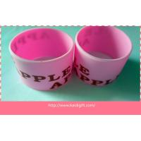 Buy cheap 40mm width silicone rubber bands with printed logo from wholesalers