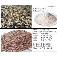 Wholesale Bauxite powder for the raw materials of welding flux from china suppliers