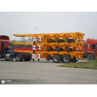 Buy cheap 20 / 40 Foot Flatbed Semi Trailer Trucks / Skeletal Trailer 12 Pcs Container Twist With 2 Or 3 FUWA Axles from wholesalers