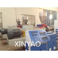 China SJZ80 Conical double screw PVC Pipe Extrusion Line , PVC twin screw extruder, on sale