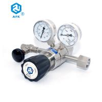 Buy cheap 316L Inlet Stainless Steel Pressure Regulator 200 Bar Two - Stage Silvery White from wholesalers