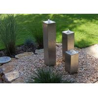 Buy cheap Square Cylinder Cascading Garden Water Fountain Feature Of Stainless Steel from wholesalers