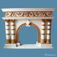 Buy cheap Decorative Carved Marble Fireplace Surround ,Home Marble Fireplace Mantel from wholesalers