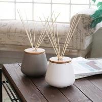 Buy cheap Ceramics Diffuser Home Reed Diffuser Home Fragrance Diffuser With Wooden Lids from wholesalers