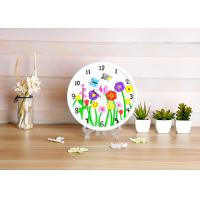Wholesale Flower Design Plaster Painting Arts And Crafts Toys With Real Clock Function from china suppliers