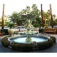 Buy cheap Garden stone fountain with pool, outdoor green marble fountain , decorative fountain from wholesalers