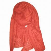 Buy cheap Acrylic Scarf, Customized Specifications are Accepted, Measures 67x178 + 10x2cm from wholesalers