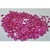 China 5# color machine cut synthetic gemstone ruby,synthetic rubies on sale