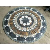 Buy cheap Round style slate mosaic type floor paving pattern medallions composited natural stone medallions round paving from wholesalers