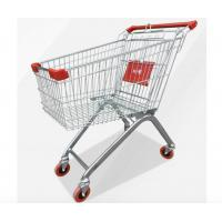 Buy cheap Zinc Powder Coating Supermarket Shopping Trolley Cart With Flexible Wheel from wholesalers