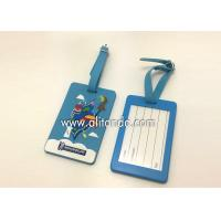 Wholesale Blank pvc luggage tags custom logo image words numbers can be added from china suppliers