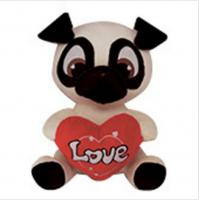 Buy cheap PUG Soft Animal Holiday Plush Toys PUPPY DOG Doll For Birthday Gift from wholesalers