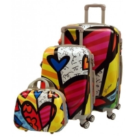 Wholesale Combination Lock ODM 0.8mm Floral Print Luggage Suitcase from china suppliers