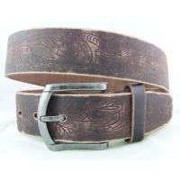 first layer leather embossing flower waist belts Manufactures