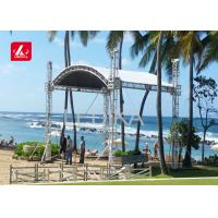 Buy cheap Aluminum Studio Curved Roof Bolt Joint Event Stage Lighting Truss 500mm X 600mm from wholesalers