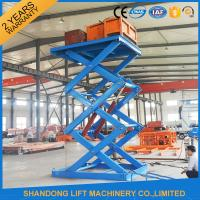 Buy cheap Anti Skid Checkered Plate Stainless Steel Scissor Lift , Fixed Cargo Stationary Hydraulic Lift Platform from wholesalers