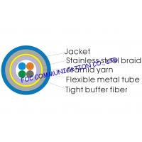 Buy cheap Optical Fiber Cable 4core With Flexible Metal Tube and Braid For CATV from wholesalers