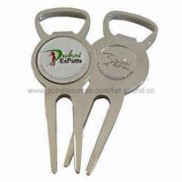 Buy cheap Bottle Opener Shape Divot Tool with Ball Marker from wholesalers