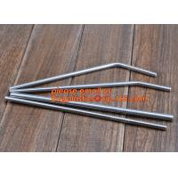Buy cheap Diameter 6 mm 215 mm long stainless steel straw in bulk package,Stainless Steel Drinking Straws with Premium Aluminum Ca from wholesalers