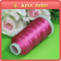 Viscose Rayon Embroidery Machine Threads Bright Pink for Knitting Manufactures