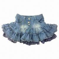 Buy cheap Girls' Skirts, Made of 100% Cotton from wholesalers