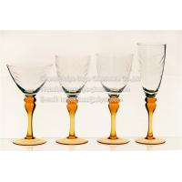 Buy cheap engraved clear glass bowl sprayed color stem bigger style handmade from wholesalers