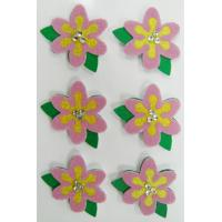 Buy cheap Flower Party Fuzzy Printable Fabric Stickers For Girls Gift Card Screen Printing from wholesalers