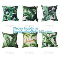 Buy cheap Tropical Leaf Latest Design Digital Printing , Cushion Cover Decorative Pillow Covers from wholesalers