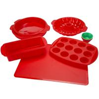 Buy cheap Silicone Bakeware Set 18-Piece Set including Cupcake Molds, Muffin Pan, Bread Pan, Cookie Sheet, Bundt Pan from wholesalers