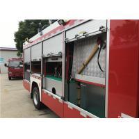 Buy cheap 2x Halogen Lamp Tanker Fire Truck , 260 L/Min Flow Light Rescue Fire Trucks product